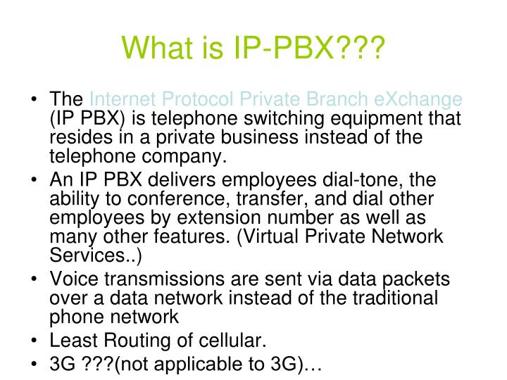 What is IP-PBX???