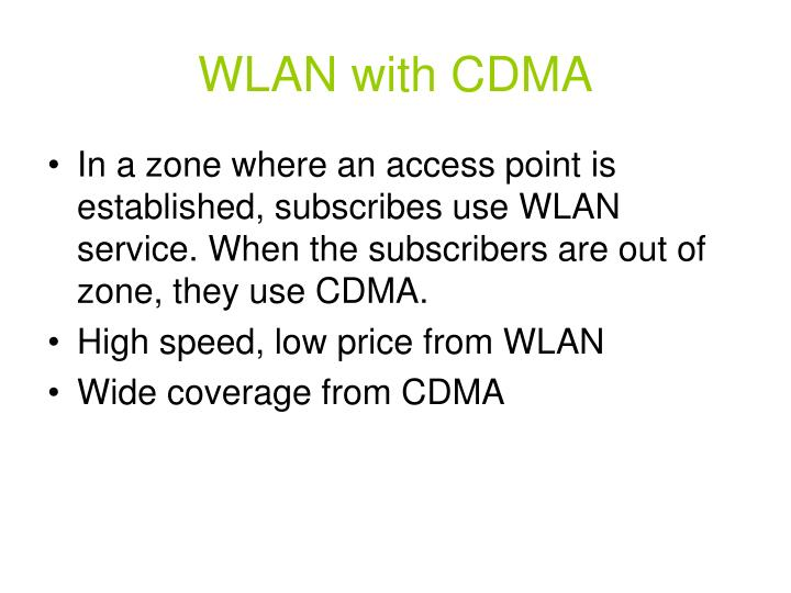 WLAN with CDMA