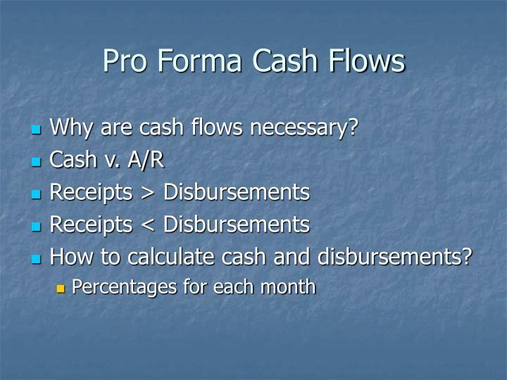 Pro Forma Cash Flows