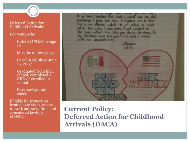 Deferred Action for Childhood Arrivals: