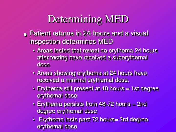Determining MED