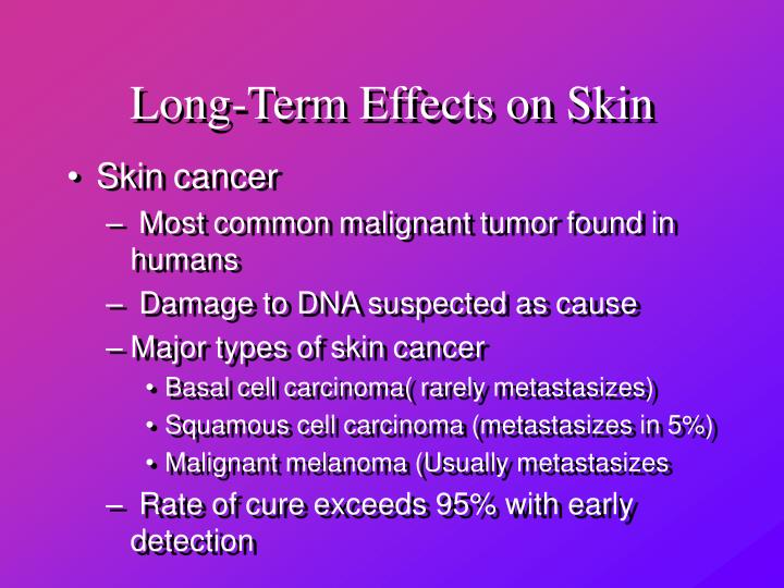 Long-Term Effects on Skin