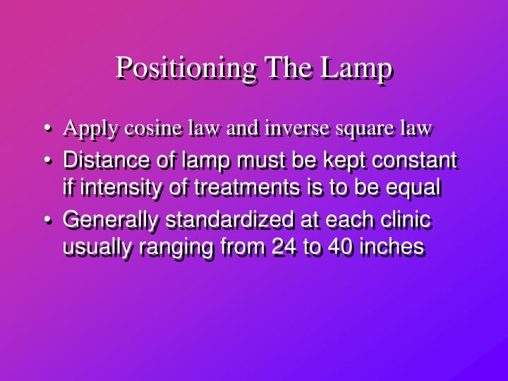 Positioning The Lamp