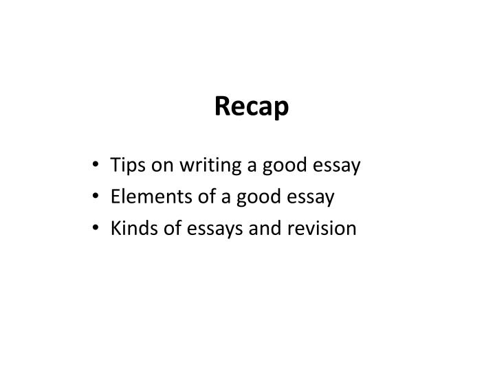 elements of an effective essay ppt