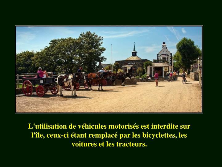 L'utilisation de véhicules motorisés est interdite sur l'île, ceux-ci étant remplacé par les bicyclettes, les voitures et les tracteurs.
