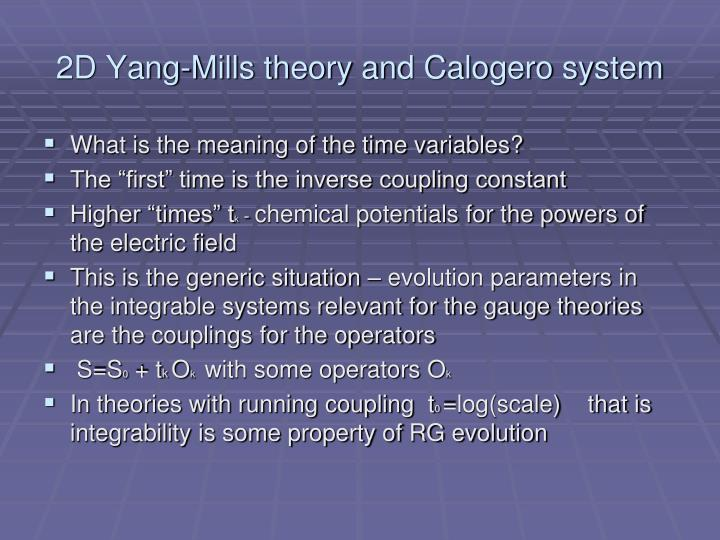2D Yang-Mills theory and Calogero system