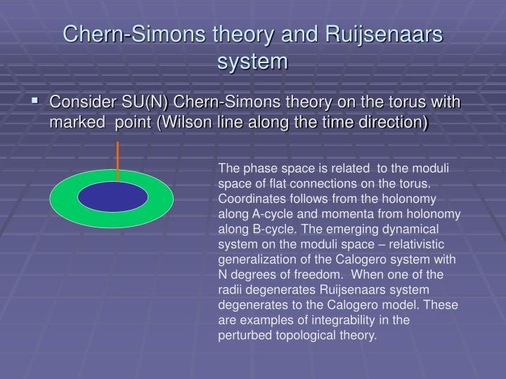 Chern-Simons theory and Ruijsenaars system