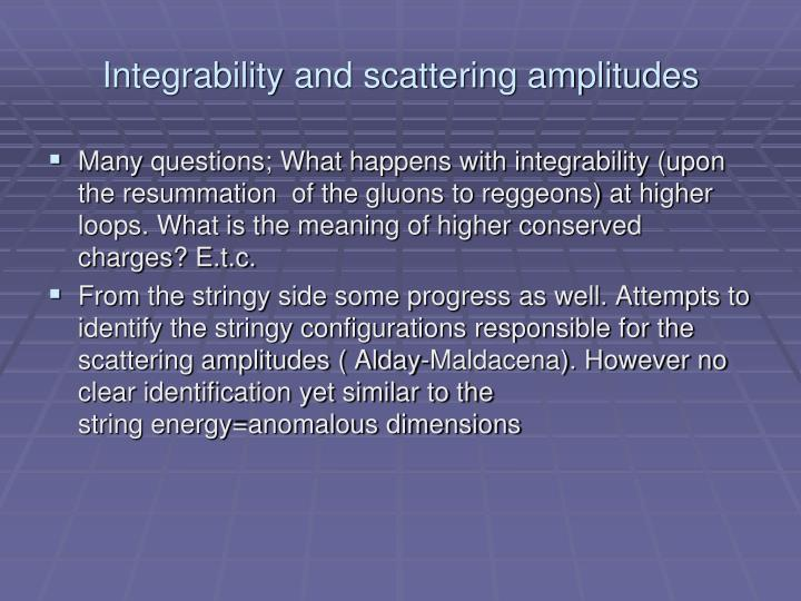 Integrability and scattering amplitudes