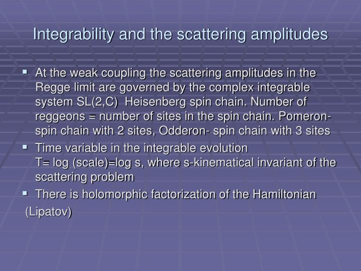 Integrability and the scattering amplitudes