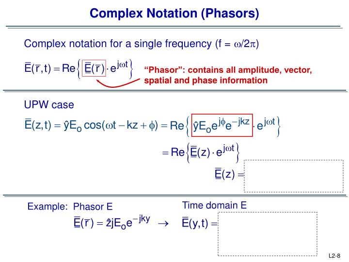 Complex Notation (Phasors)