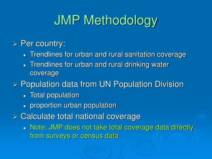 JMP Methodology