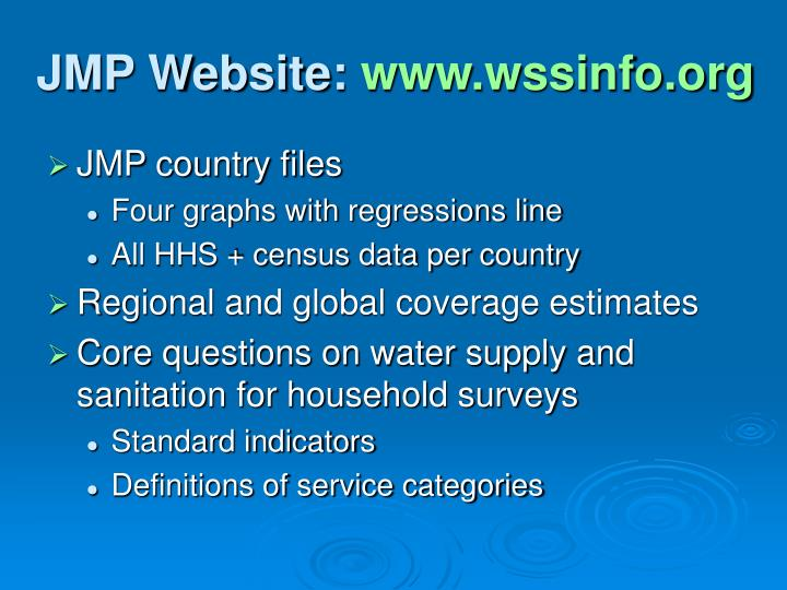 JMP Website: