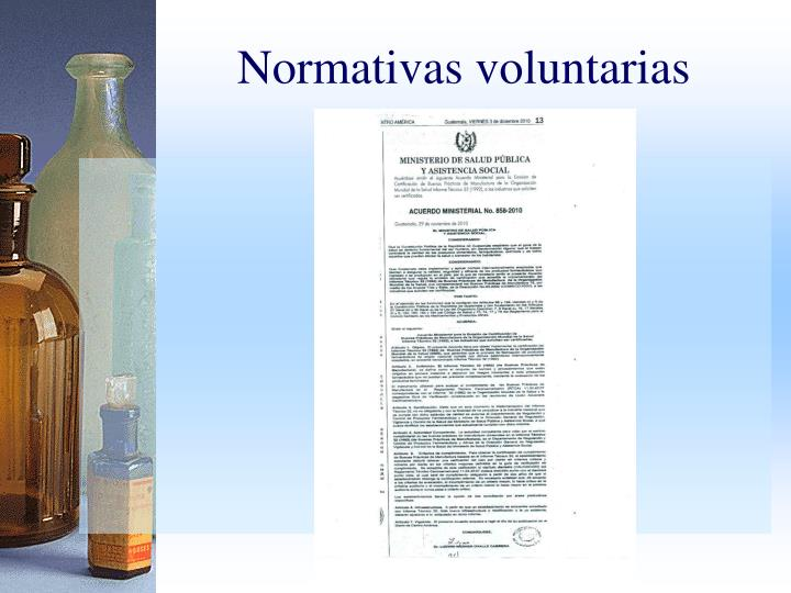 Normativas voluntarias