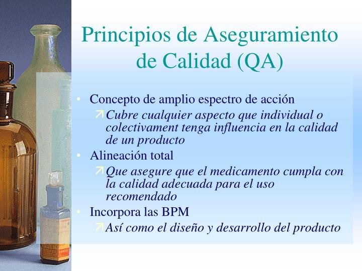 Principios de Aseguramiento de Calidad (QA)