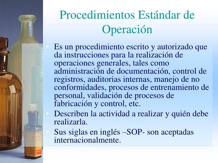 Procedimientos Estándar de Operación