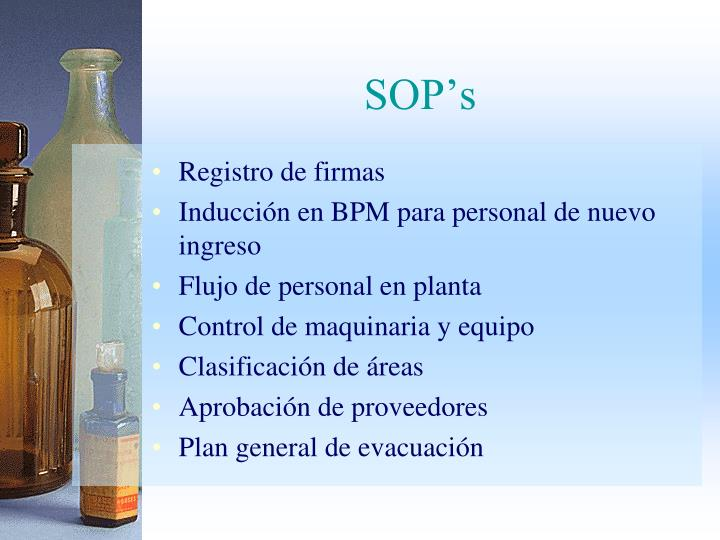 SOP's