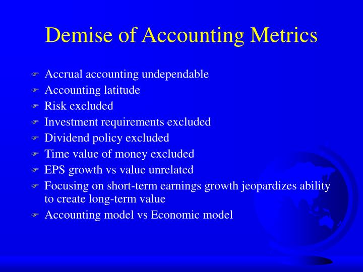 Demise of Accounting Metrics