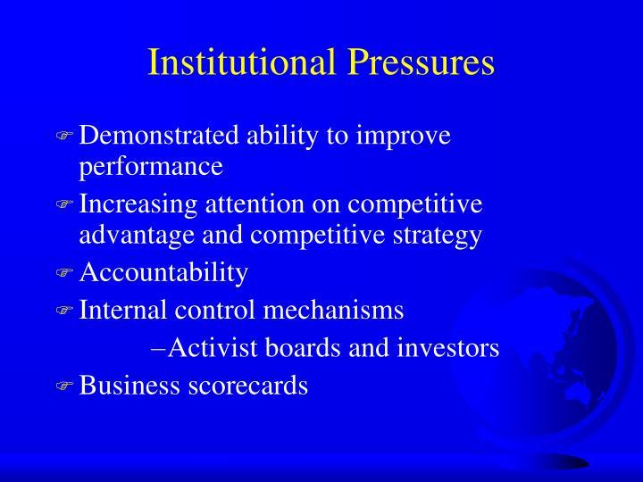 Institutional Pressures