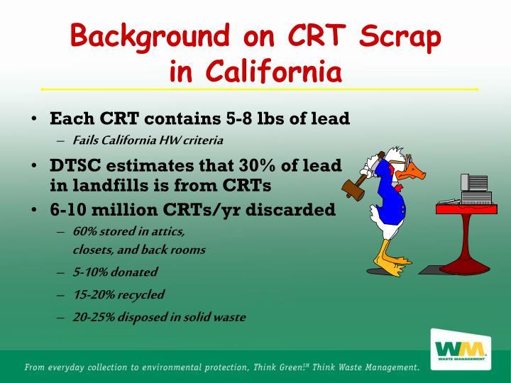 Background on CRT Scrap
