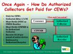 once again how do authorized collectors get paid for cews