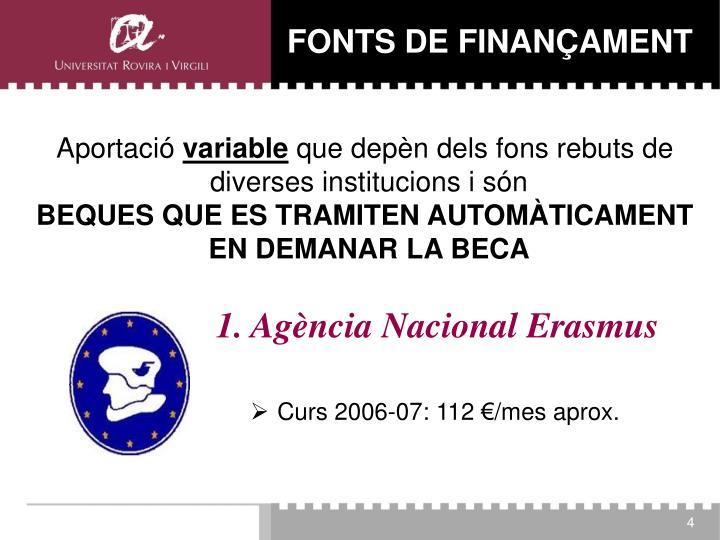 1. Agència Nacional Erasmus