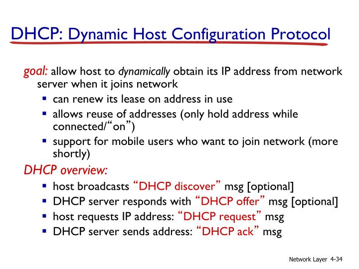 DHCP:
