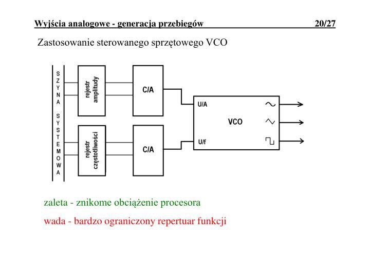 Zastosowanie sterowanego sprzętowego VCO