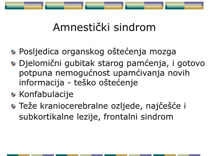 Amnestički sindrom