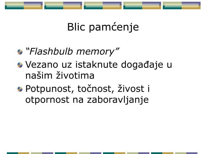 Blic pamćenje