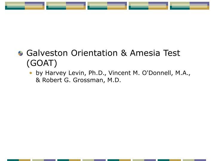 Galveston Orientation & Amesia Test (GOAT)