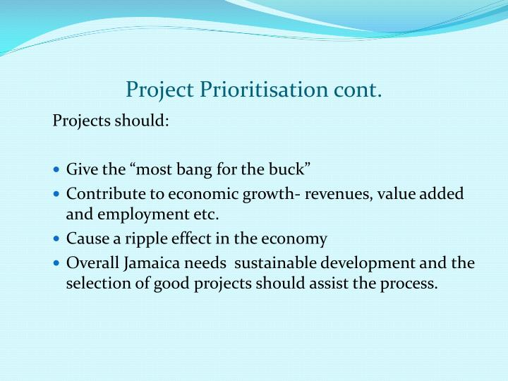 Project Prioritisation cont