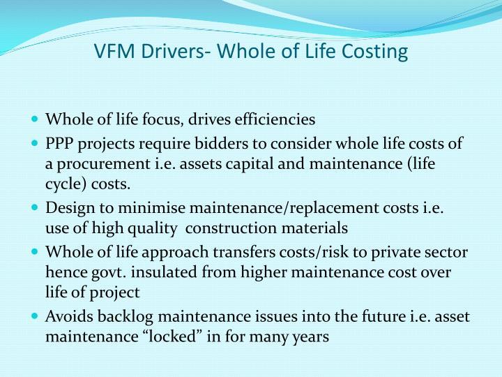 VFM Drivers- Whole of