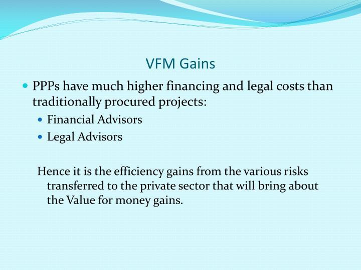 VFM Gains