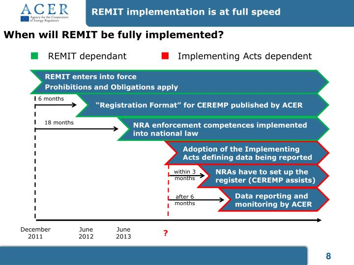 REMIT implementation is at full speed