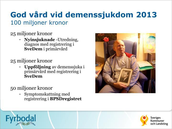 God vård vid demenssjukdom 2013