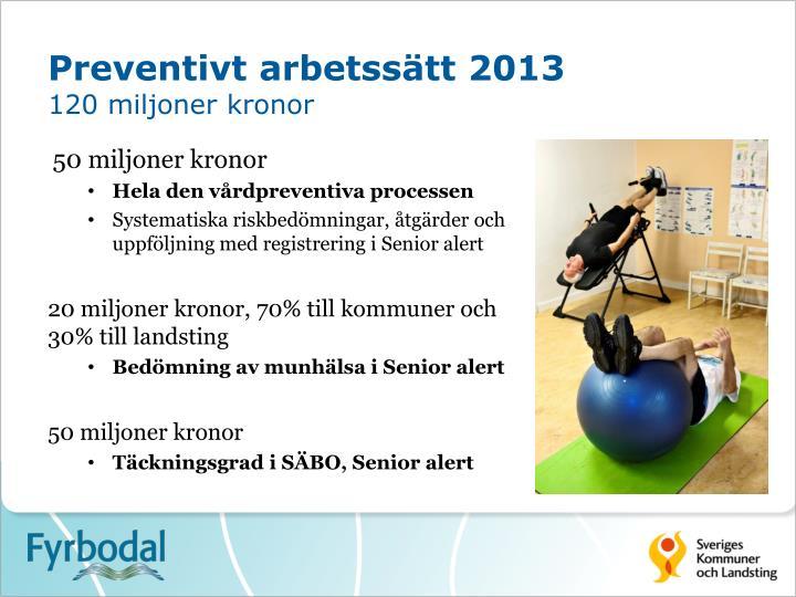 Preventivt arbetssätt 2013