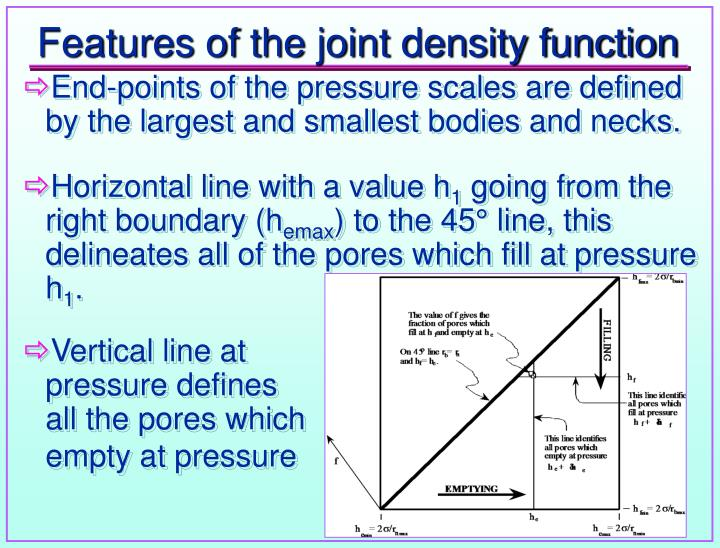 Features of the joint density function