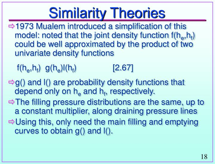Similarity Theories