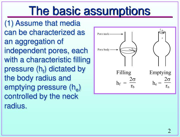 The basic assumptions