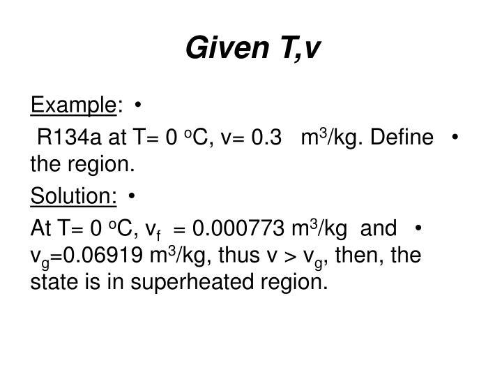 Given T,v