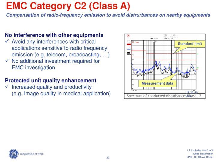 EMC Category C2 (Class A)