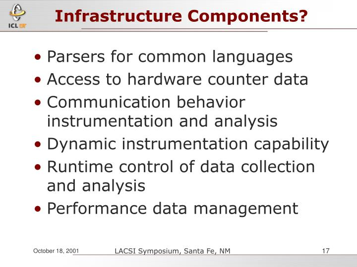 Infrastructure Components?