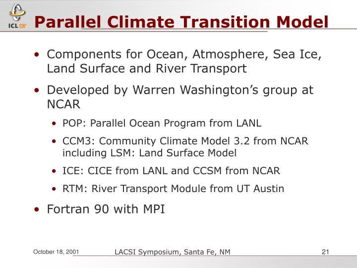 Parallel Climate Transition Model