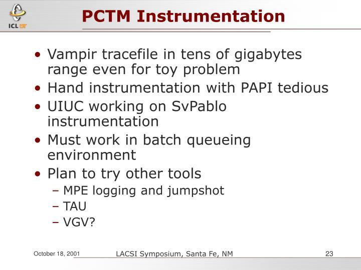 PCTM Instrumentation