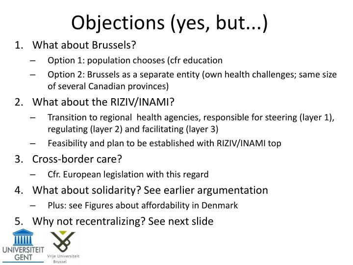 Objections (yes, but...)