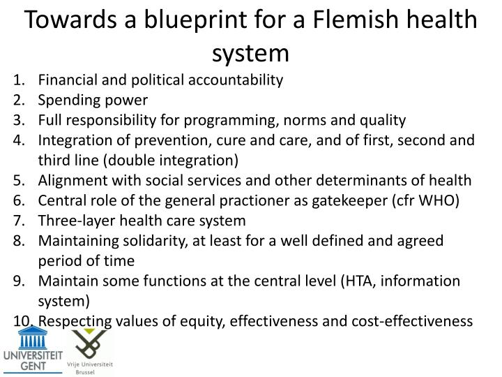 Towards a blueprint for a Flemish health system