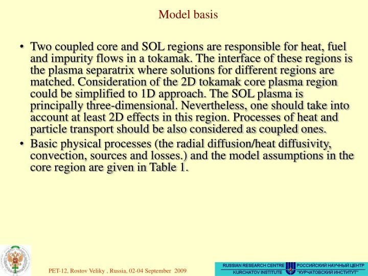 Model basis