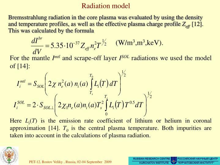 Radiation model