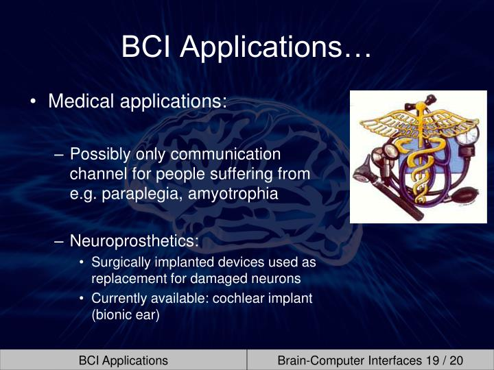 BCI Applications…