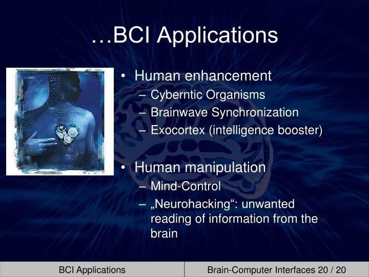 …BCI Applications